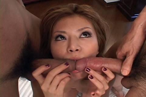 Teen babe Hotaru Akane best threesome