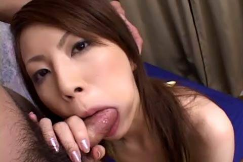 Tomoe Hinatsu sweet face and mouth fucked with huge dick